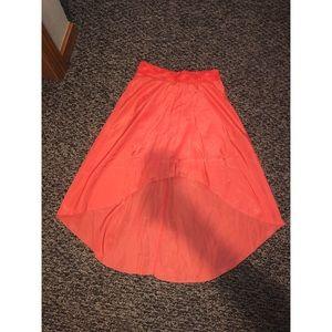 peach high low skirt